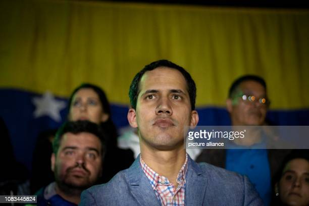 Juan Guaidó opposition President of the National Assembly takes part in a demonstration against President Maduro The disempowered Venezuelan...