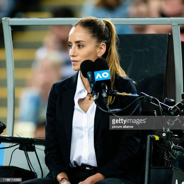 Tennis Grand Slam Australian Open Men singles 3rd round Verdasco Zverev Chair referee Marijana Veljovic from Serbia is sitting in front of the...