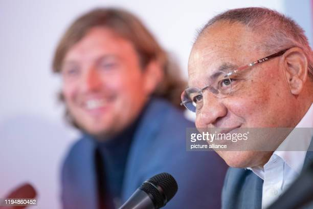 Felix Magath former international player and football coach speaks at a press conference about his new position as CEO of Flyeralarm Global Soccer On...
