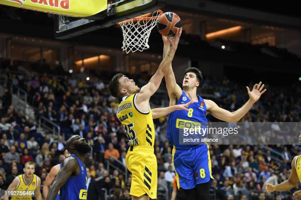 Basketball Euroleague Alba Berlin Maccabi Tel Aviv main round 18th matchday Alba playmaker Martin Hermannsson scores two points against Maccabi...