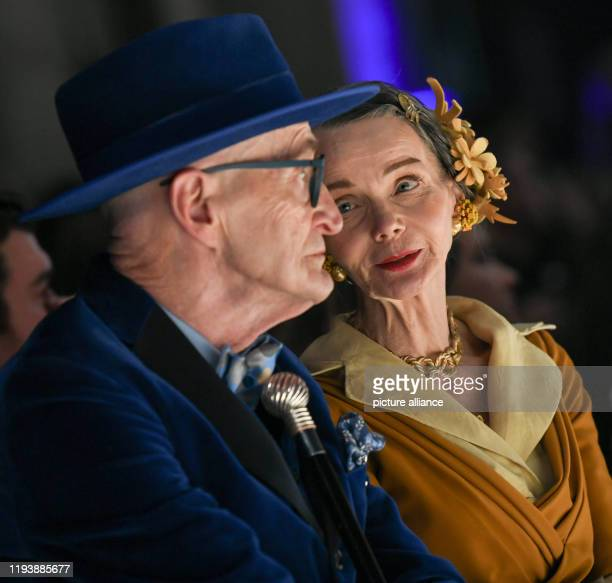 Britt Kanja and Günther Krabbenhöft are guests at the MercedesBenz Fashion Week at the show of the label Rebekka Ruetz in the power station Photo...