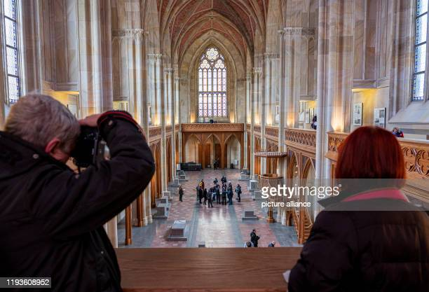 During the press preview for the open days visitors can view the newly renovated interior of the Friedrichswerder Church The church which has been...