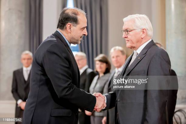 January 2020, Berlin: Federal President Frank-Walter Steinmeier welcomes Mahmoud Farazandeh, Ambassador of Iran to Germany, at the Federal...