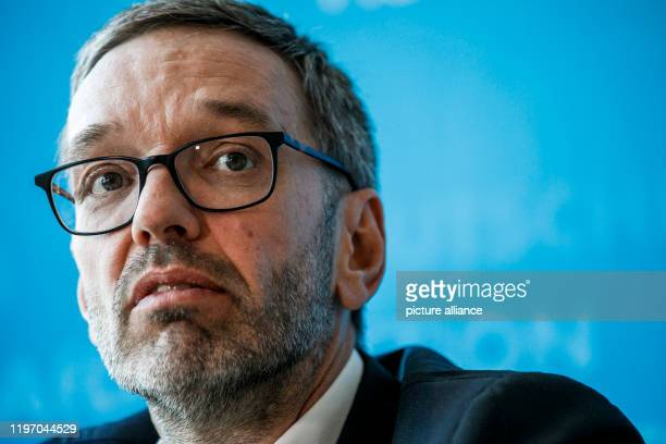 January 2020, Berlin: Herbert Kickl, club chairman of the FPÖ, speaks at a press conference of the AFD Franktion in the Bundestag. They presented...
