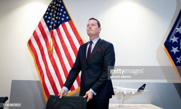 Richard Grenell Ambassador of the United States of America to Germany attends a press conference at the US Embassy in Berlin After more than 20 years...