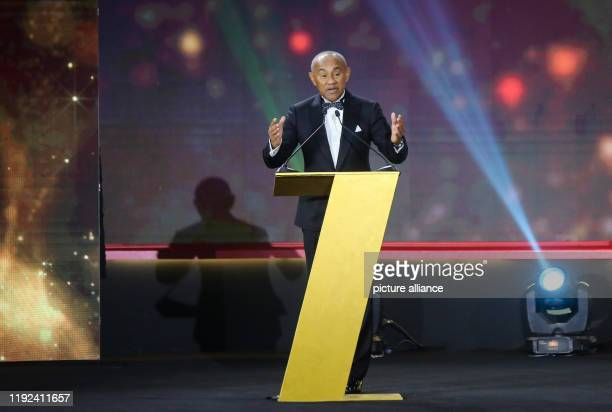 CAF President Ahmad Ahmad speaks during the 2019 CAF Awards ceremony at Albatros Citadel Photo Ibrahim Youssef/dpa