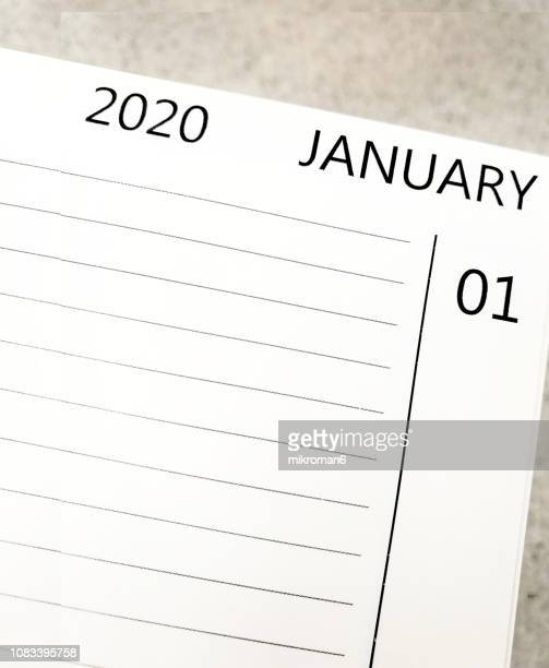 01 january 2020 happy new year - 2020 calendar stock photos and pictures