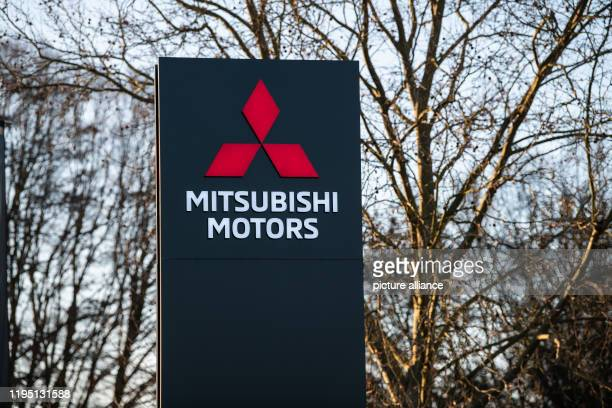 January 2020, Hessen, Friedberg: The logo of the Japanese car manufacturer Mitsubishi Motors on the company premises. The public prosecutor's office...