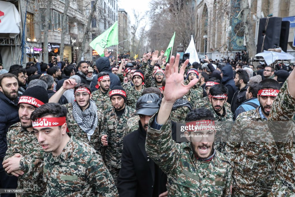 Mourning rally for top Iranian general Soleimani in Tehran : ニュース写真