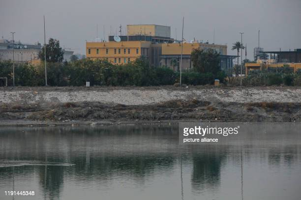 January 2020, Iraq, Baghdad: A general view of the US embassy compound on the banks of the Tigris River. A US airstrike in Baghdad killed on Friday...