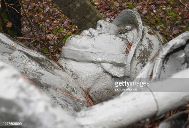 30 January 2020 MecklenburgWestern Pomerania Neustrelitz The monument to a Soviet soldier is located in the depot of the building yard The city...