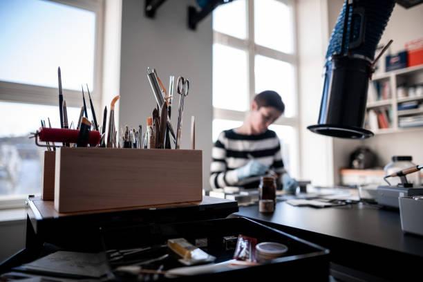 DEU: Restorer For New Media Art Of The Duesseldorf Museums