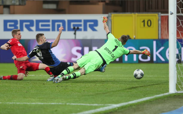 DEU: Bundesliga SC Paderborn - Bayer Leverkusen