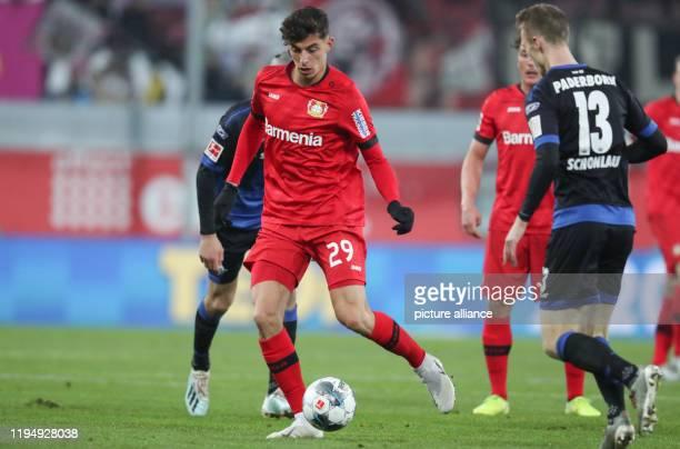 19 January 2020 North RhineWestphalia Paderborn Football Bundesliga SC Paderborn 07 Bayer Leverkusen 18th matchday in the Benteler Arena Paderborn's...