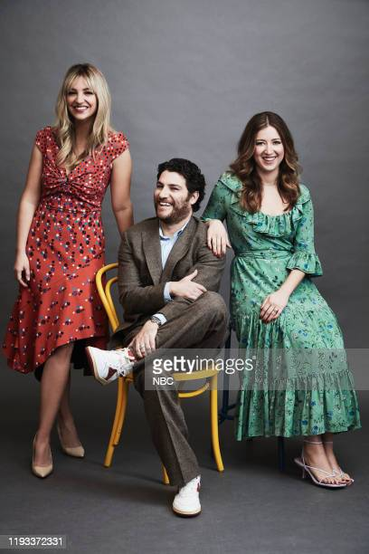 EVENTS January 2020 Press Tour Portrait Studio Pictured Abby Elliot Adam Pally Jessy Hodges Indebted