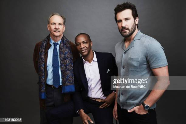 "January 2020 Press Tour Portrait Studio -- Pictured: Michael O'Neill, J August Richards, Clive Standen, ""Council of Dads"" --"