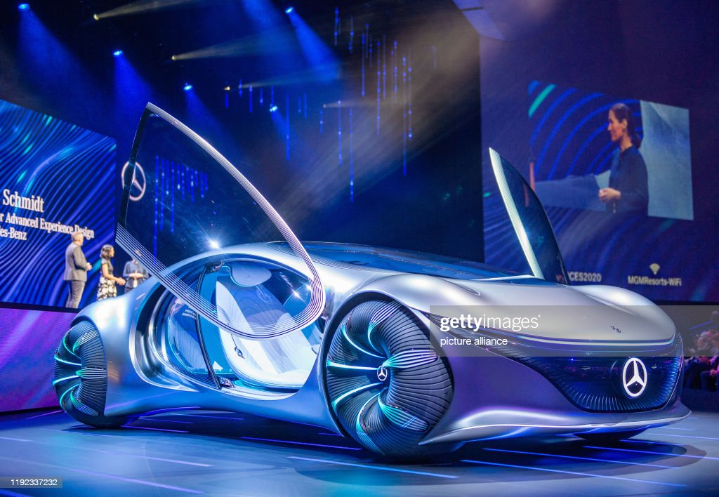 Technology fair CES - Daimler : News Photo