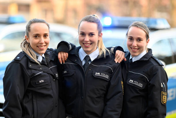 DEU: Triplets In The Police Force