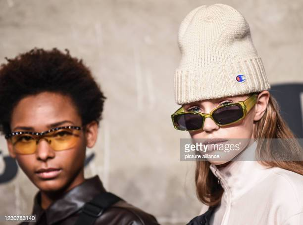 January 2021, Berlin: Models show creations by Champion at the About You Fashion Week at Kraftwerk Berlin. This time the Berlin Fashion Week takes...