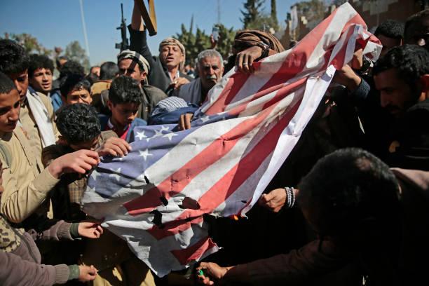 YEM: Anti-US Protest Over Houthis Terrorist Designation