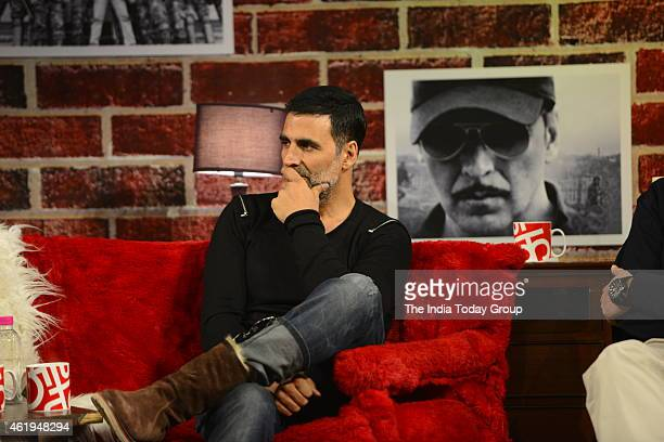 Akshay Kumar at the India Today Mediaplex for the promotion of his upcoming movie Baby in Noida