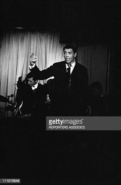 January 2130 January 1965 Jacques Brel celebrates 12 years of career in one of his earlier clubs 'L'Echelle de Jacob' in France on January 26 1965