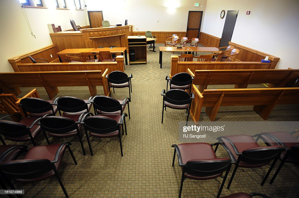 January 22, 2008--Larimer County Courtroom 2A sits empty hours after