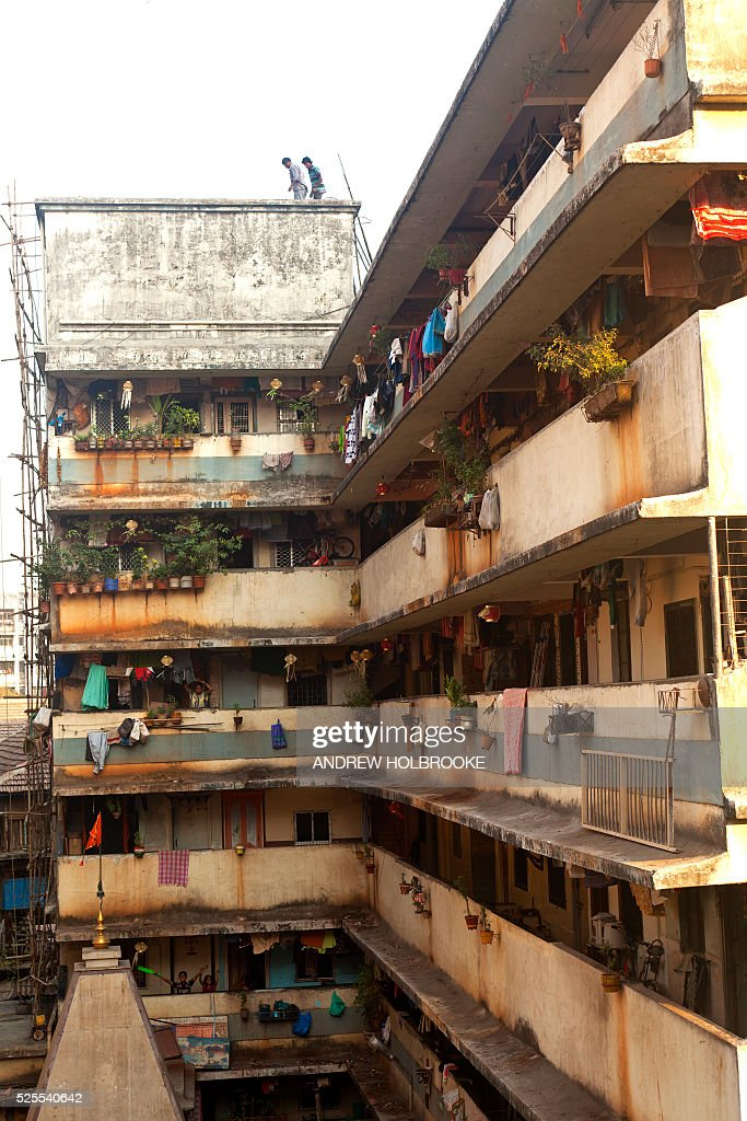 January 23, 2012 - Laundry hanging on the balconies of a