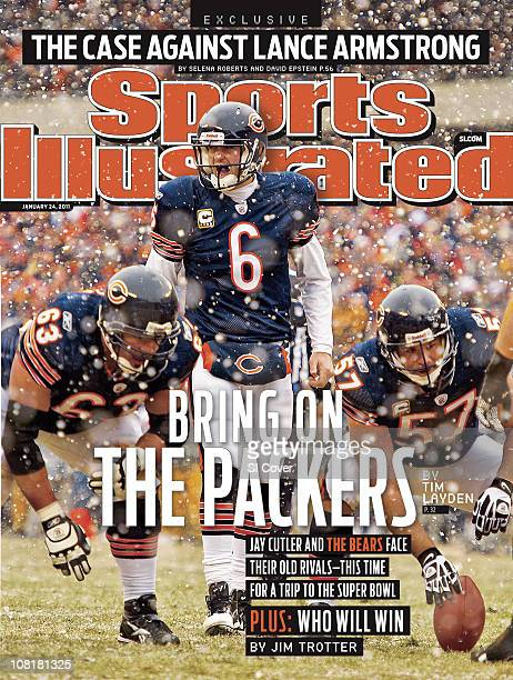 January 24 2011 Sports Illustrated CoverFootball NFC Divisional Playoffs Chicago Bears Jay Cutler calling signals before snap during game vs Seattle...