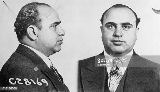 January 25, 1947 - Chicago: These photos of Al Capone were made by the Bureau of identification of the Chicago police department, immediately after...
