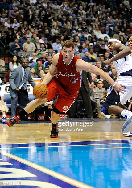 Los Angeles Clippers power forward Blake Griffin in an NBA game between the Los Angeles Clippers and the Dallas Mavericks at the American Airlines...