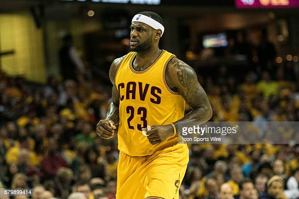 Cleveland Cavaliers Forward LeBron James looks angry after a foul was called during the game between the Oklahoma City Thunder and the Cleveland...