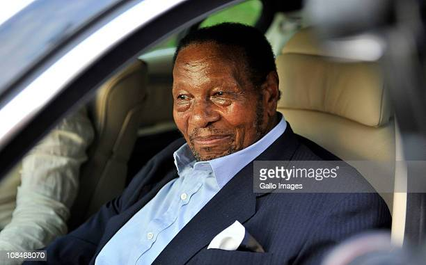South African businessman Richard Maponya arrives to visit Nelson Mandela at the Milpark Hospital in Johannesburg South Africa on 27 January 2011...