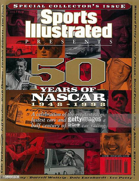 January 28 1998 Sports Illustrated Presents CoverAuto Racing 50 Years of NASCAR Darrell Waltrip before Miller 500 race at Charlotte Motor Speedway in...