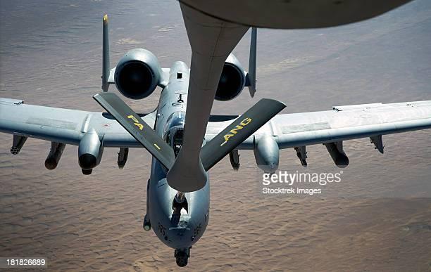 January 28, 2012 - A boom operator refuels an A-10 Thunderbolt II.