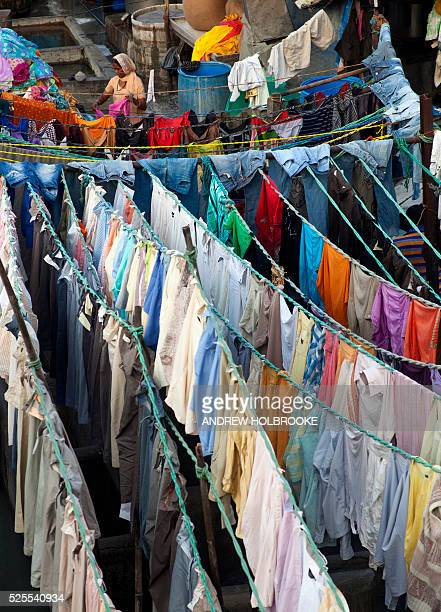 January 28 2012 Dhobi Ghat is a well known open air laundromat in Mumbai The washers locally known as Dhobis work in the open to wash the clothes...