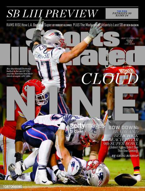 January 28 2019 February 4 2019 Sports Illustrated Cover AFC Playoffs New England Patriots Rex Burkhead victorious with James Develin gamewinning...