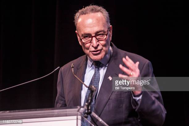 MANDATORY CREDIT Bill Tompkins/Getty Images New York Senator Charles Schumer at The Catholic Charities fundraiser event on January 29 2017 in New...