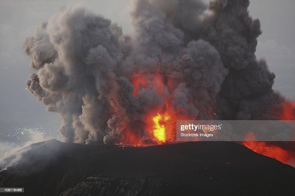 January 3, 2009 - Santiaguito eruption, Guatemala. : Stock Photo