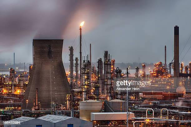 CONTENT] GRANGEMOUTH SCOTLAND January 3 2013 Grangemouth oil refinery emits smoke continuing around the clock operation on gray afternoon January 3rd...