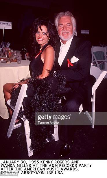 January 30 1995 Kenny Rogers And Wanda Miller At The American Music Awards