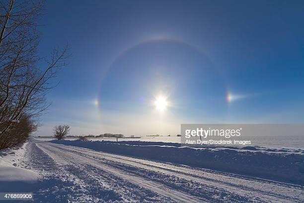 January 30, 2011 - Solar halo and sundogs in southern Alberta, Canada.