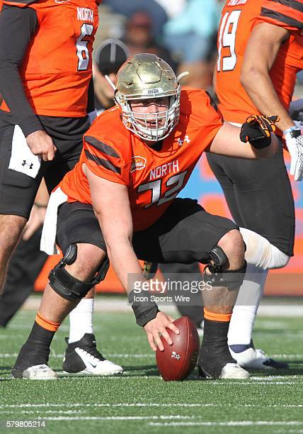 North squad center Nick Martin of Notre Dame during the Senior Bowl at LaddPeebles Stadium in Mobile Ala South squad won 2716 over the North squad