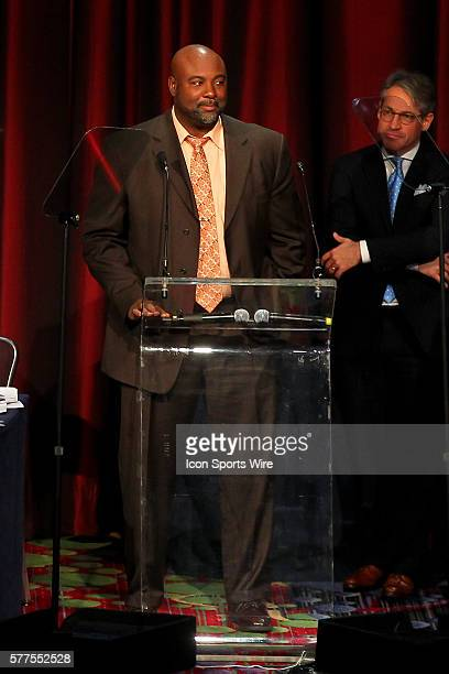 Former player and AIA National Director of Pro Ministries Corwin Anthony during the Athletes In Action 2014 Super Bowl Breakfast featuring the...