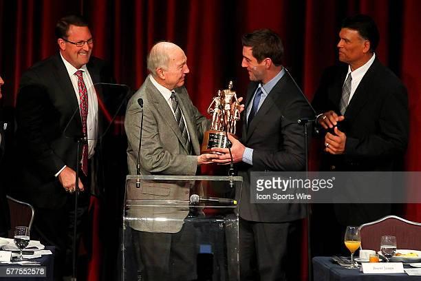 Former San Francisco 49er Tight End Brent Jones Hall of Fame Quarterback Bart Starr and and former Cincinnati Bengals offensive lineman Anthony Munoz...
