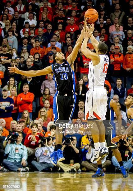Duke University Blue Devils guard Matt Jones in action against the University of Virginia Cavaliers. The Blue Devils defeated the Cavaliers 69-63 at...