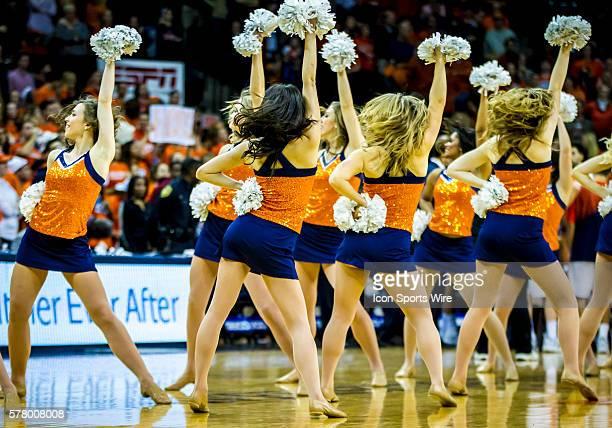 University of Virginia Cavaliers cheerleaders in action against the Duke University Blue Devils The Cavaliers fell to the Blue Devils 6963 at John...