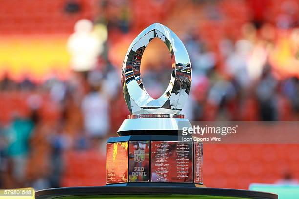 Trophy of the Pro Bowl at Aloha Stadium on Oahu HI
