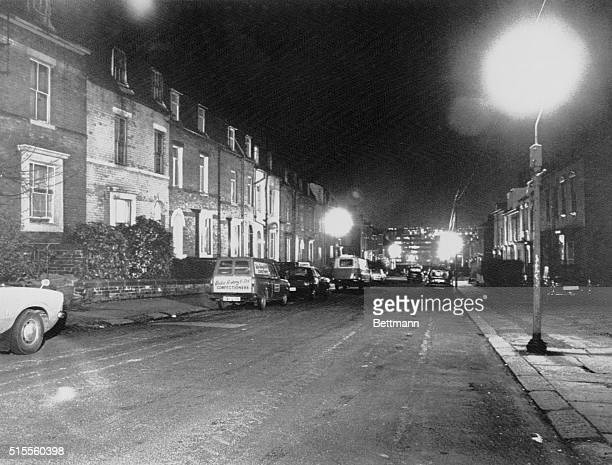January 4 1981 Sheffield England This is the scene in a red light district late on the street where police arrested a man identified as Peter...