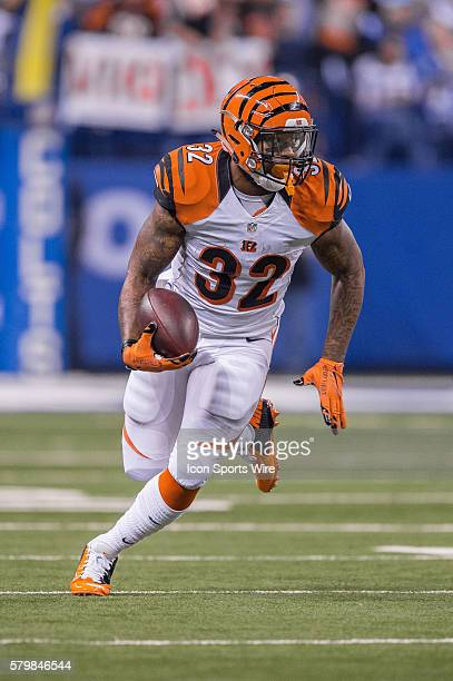 Cincinnati Bengals running back Jeremy Hill runs outside during a NFL AFC Wild Card football game between the Indianapolis Colts and Cincinnati...